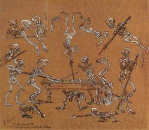 JamesEnsor-BilliardPlayingSkeletons