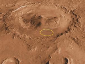 MarsGaleCrater-20kDiameter-AimPointForCuriosityLanding