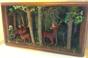 Deer Diorama by D. L. Pughe